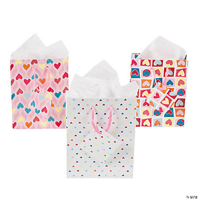 Small Valentine Print Gift Bags