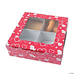 Valentine Four-Section Treat Boxes
