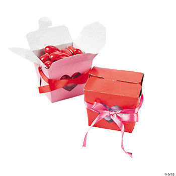 Valentine Takeout Boxes With Heart Cutouts