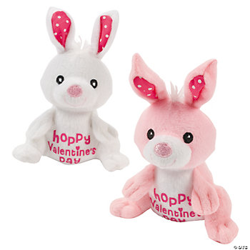 Plush Hoppy Valentine's Day Bunnies