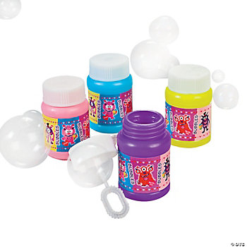Mini Valentine Monster Bubble Bottles