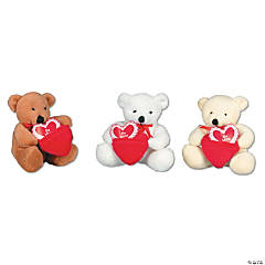 Plush Valentine Bears With Pocket Hearts