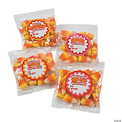 Valentine Candy Corn Fun Packs With Stickers