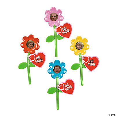Bendable Valentine's Daisy Picture Frames