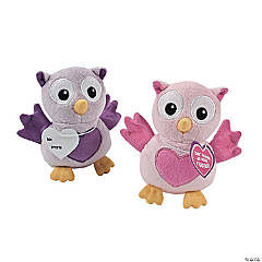 Plush Valentine Owls