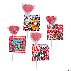 Wild Valentine Exchange Suckers With Card