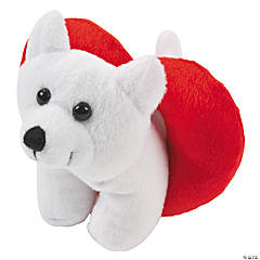Plush Valentine Polar Bears