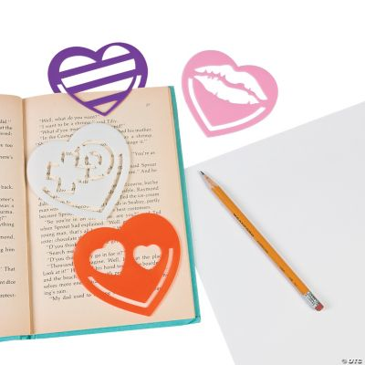 Heart Stencil Bookmarks