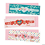 Heart Bracelets Perforated Valentine Cards