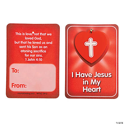 """Jesus in My Heart"" Valentine Cards with Charm"