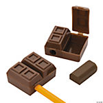Chocolate Bar Pencil Sharpeners With Eraser