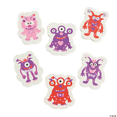 Valentine Monster Erasers