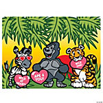 Make-A-Valentine Animal Sticker Scenes