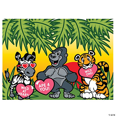 Valentine Animal Sticker Scenes