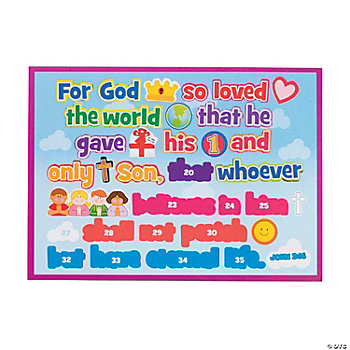 Make-A-John 3:16-Sticker Scenes