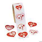 """Be My Valentine!"" Roll Stickers"