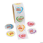 Sweet Blessings Heart Roll Stickers