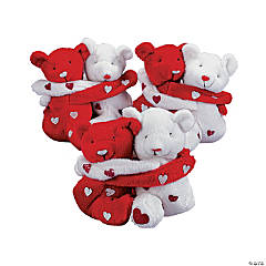 Plush Hugging Valentine's Day Bean Bag Bears