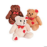Plush Valentine Patchwork Bean Bag Bears