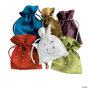 Bejeweled Drawstring Bags