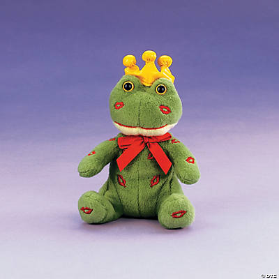 Plush Frog Prince with Embroidered Lips