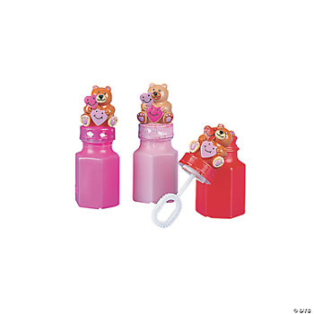 Valentine Bear Bubble Bottles