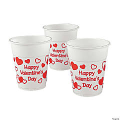 Valentine Disposable Plastic Cups