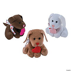 Plush Dogs With Heart