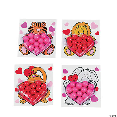 Valentine Cards with Gumballs