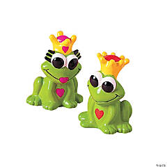 Valentine Frog With Crown Finger Puppets