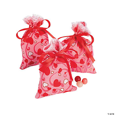 Valentine Gift Bags with Tie