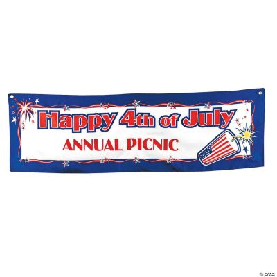 """Personalized """"Happy 4th of July"""" Banner - Small"""