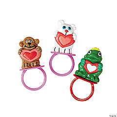 Valentine Frosted Sucker Rings