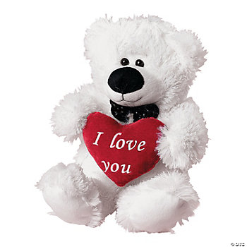 Plush Valentine Polar Bear