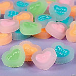 Conversation Heart Erasers