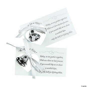 Silvertone Wedding Bell On A Card