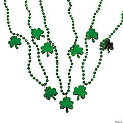 Bead Necklaces With Shamrocks