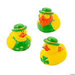 Vinyl St. Patrick's Day Rubber Duckies