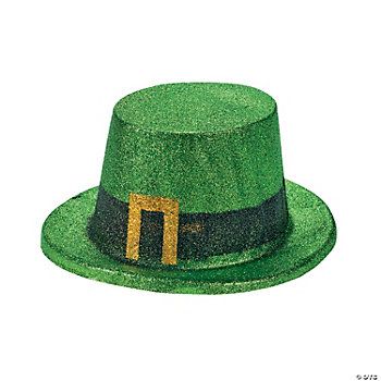 Green Glitter Top Hats