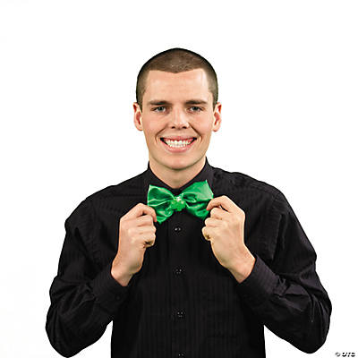 St. Patrick's Day Light-Up Bow Tie