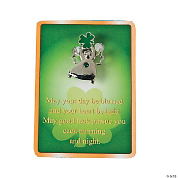 Irish Angel Pins On Cards