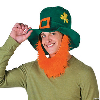 Jumbo Leprechaun Hat With Beard