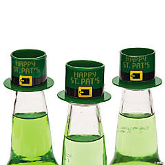 Happy St. Patrick's Day Hat Bottle Toppers