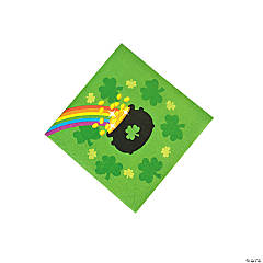 St. Patrick's Day Rainbow Beverage Napkins