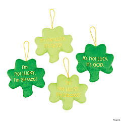 Plush Religious Shamrocks