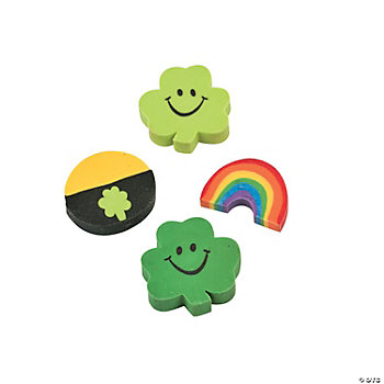 St. Pat's Mini Eraser Assortment