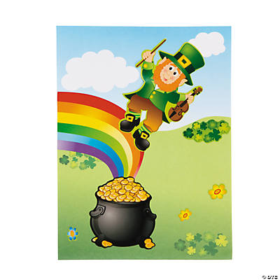 St. Patrick's Day Pot of Gold Sticker Scenes