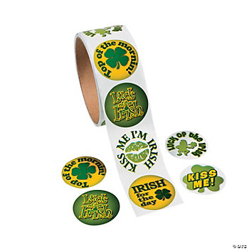 Irish Sayings Roll Stickers