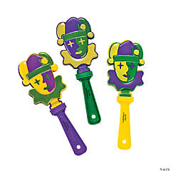 Mardi Gras Jester Hand Clappers