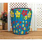 Tropical Hibiscus Trash Can Cover